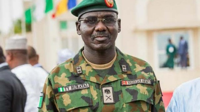 Buratai inspects completed, ongoing projects at 3 Div