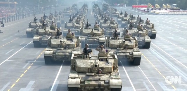 China president invokes military might with US in mind