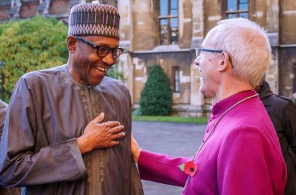 Pictures: Four times Buhari receives/visits Archbishop of Canterbury (2016-2019)
