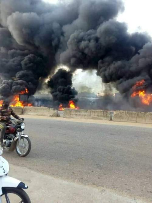 Petrol Tanker killed 8 persons, crushes many vehicles in Kogi