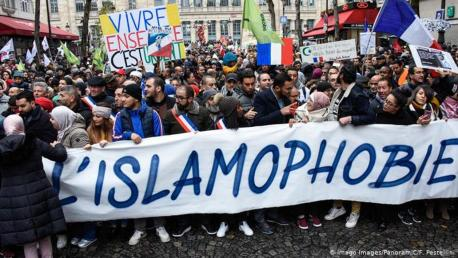 Thousands march against Islamophobia, Islam in France