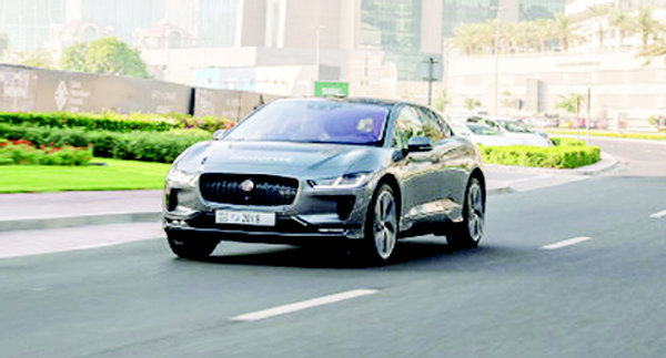 Self-driving Prototype Jaguar I-PACE hits the road
