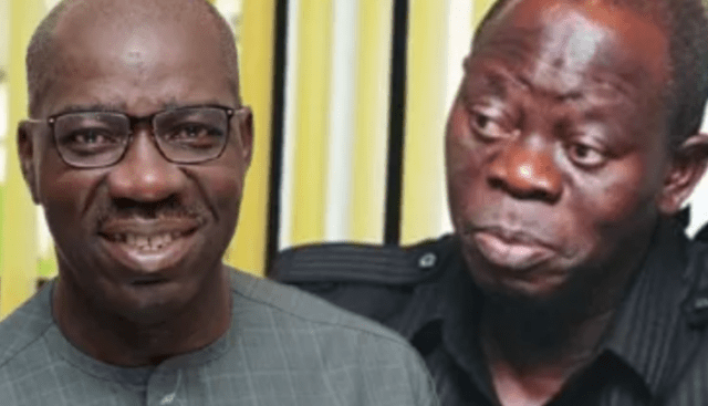Obaseki, Ize-Iyamu pitch Oshiomhole against Igbinedions