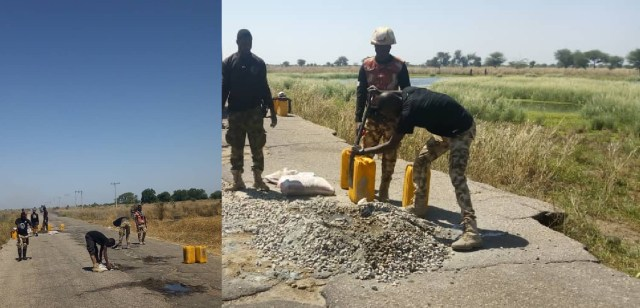 Troops renovate road leading to Boko Haram hideout in Borno