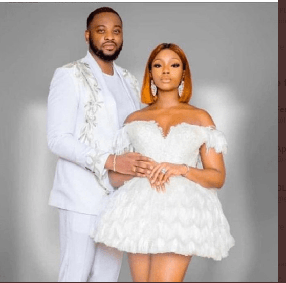 Ex-BBNaija housemates, BamBam, Teddy A hold white wedding in Dubai