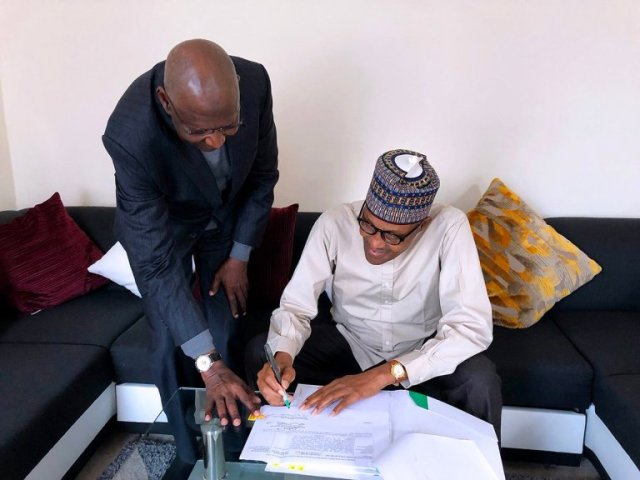 Signing PSC Bill in London: Buhari can govern Nigeria from anywhere ― Oshiomhole
