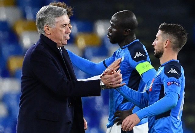 Ancelotti defiant as Napoli advance in Champions League