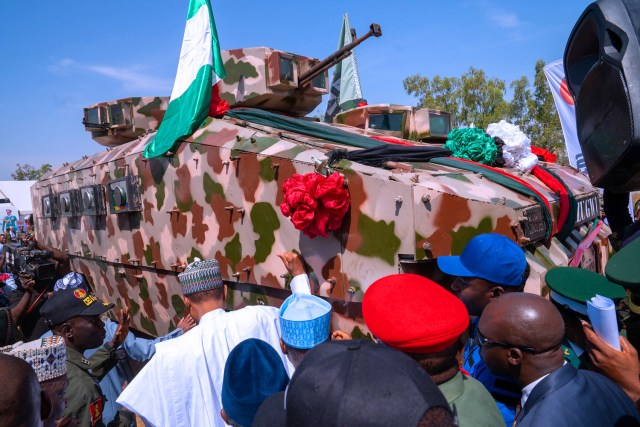 Image result for nigeria unveils locally armored vehicles