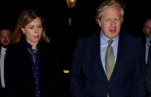 UK's PM, Boris Johnson parties with girlfriend to celebrate victory
