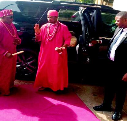 When the Obi of Issele-Uku Kingdom visited Abuja