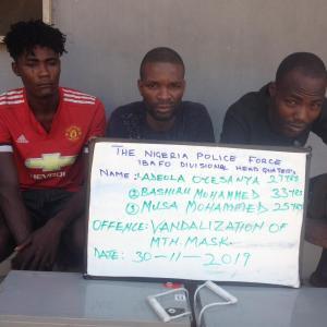 Telecoms, vandals, suspects