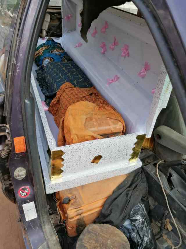 Customs Seize Caskets Containing 19 Jerry Cans Of Petrol in Ogun