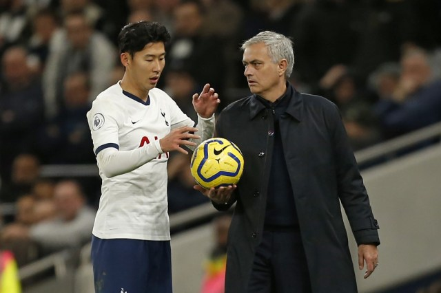 Mourinho, Son, Chelsea, Red card