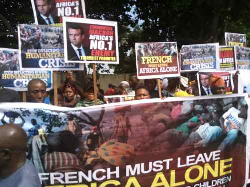 Angry protesters storm French embassy in Lagos