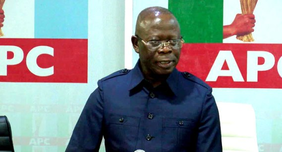 Edo 2020: Oshiomhole preaches peace as platform, vehicles destroyed