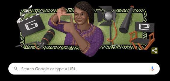 Amaka Igwe Doodle as displayed on Google's Homepage