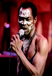 Afrobeat musician, Fela Anikulapo Kuti and his white envelope