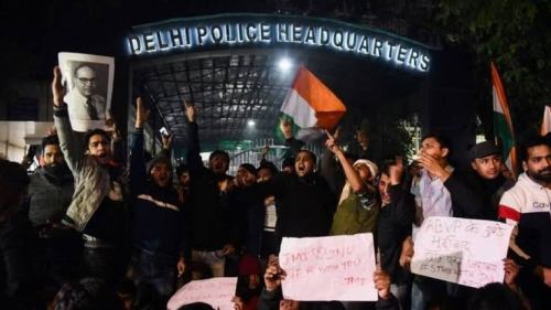 Students protest across India after campus attack