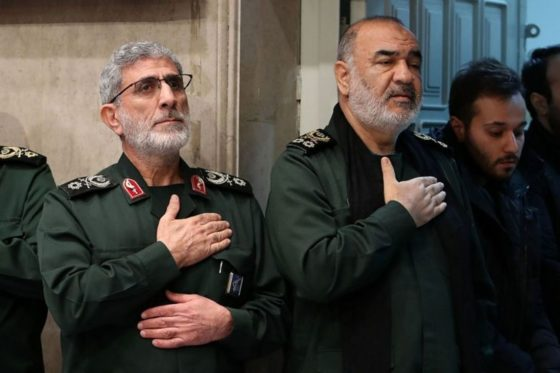 Iran Guards comment on missile fired at US