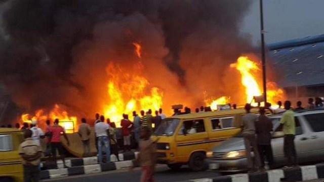 BREAKING: Pipeline fire explosion in Abule Egba