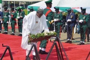 AFRDC: Buhari presides over 2020 Wreath Laying ceremony for fallen Heroes