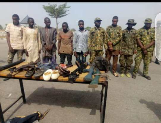 Kidnappers, bandits in Military Camouflage uniforms arrested by Navy Special Forces in Southern Kaduna.