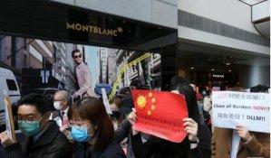 Hong Kong medical workers strike to urge closure of China border to block virus