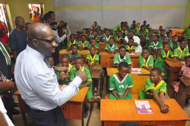 Open Day: Obaseki interacts with pupils, assesses impact of Edo-BEST