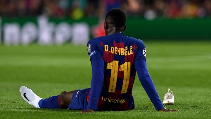"Ousmane Dembele striker suffers from a setback"""