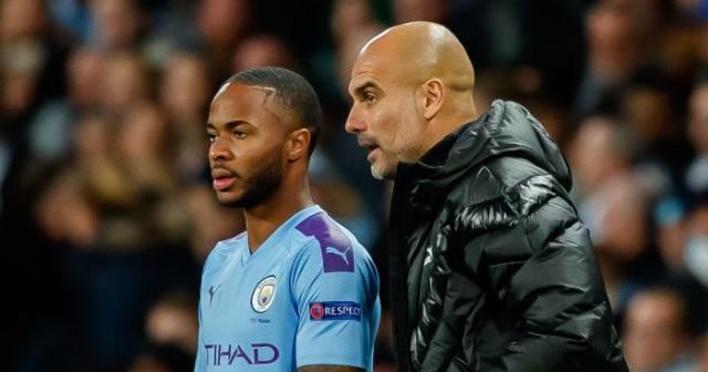 Raheen Sterling, Pep Guardiola, Man City