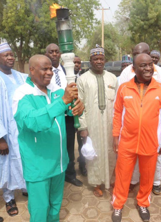 Edo 2020: Tambuwal receives unity torch, reaffirms commitment to sports devt