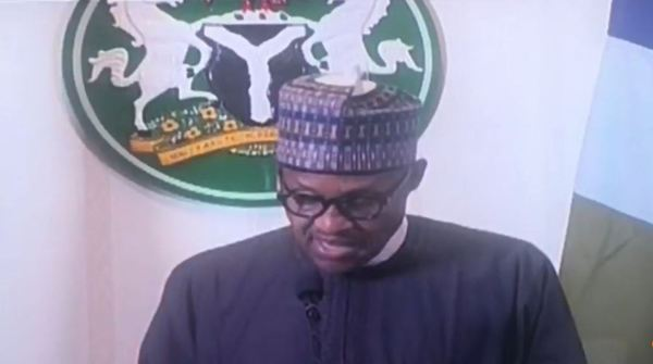 Buhari's speech: Movements of all passenger aircrafts, are suspended