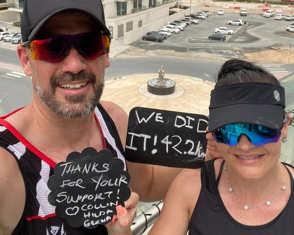 Couple run Dubai balcony marathon to beat coronavirus blues