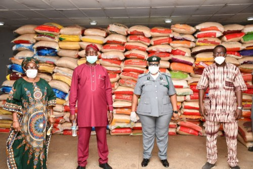 Customs says 1,800 bags of rice released to Oyo good for human consumption