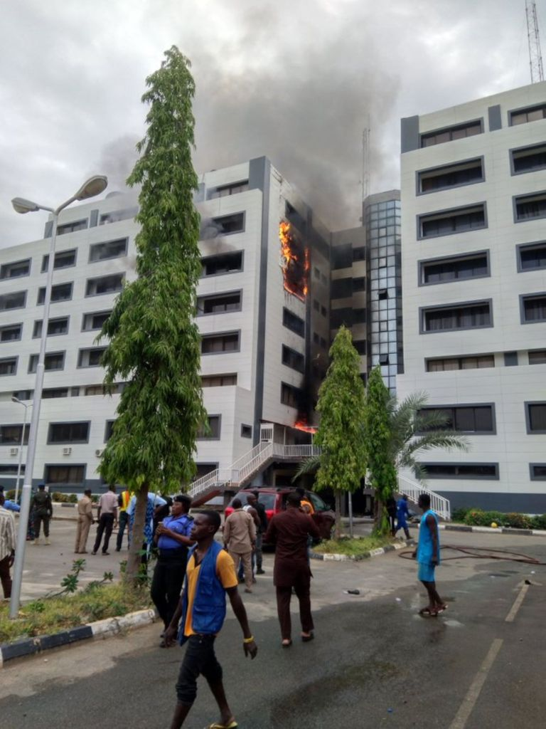 Breaking: Treasury House Gutted By Fire In Abuja