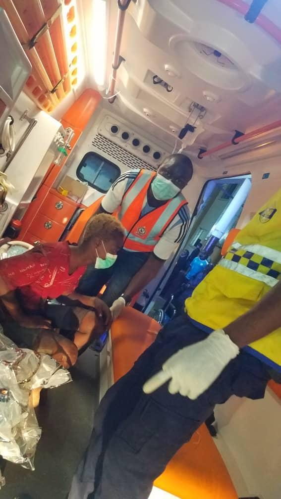 PHOTOS: LASEMA rescues suspected COVID-19 patient on street