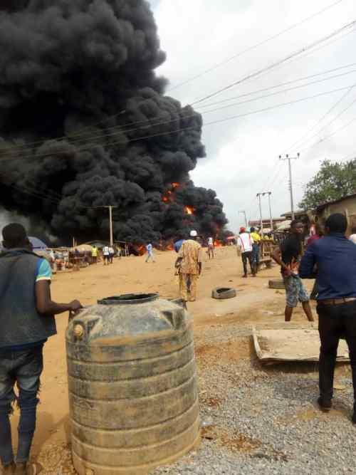 BREAKING: One reportedly killed as fire razes Moniya motor park