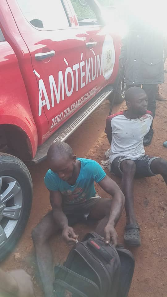 Amotekun nabs two suspects for stealing female underwear in Osun