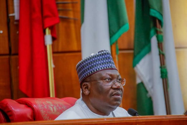 The Senate President, Ahmed Lawan, on Saturday in Gashua, Bade Local Government Area, sponsored the wedding of 100 less-privileged spinsters