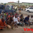 Video, Photos: About 40 people from Zamfara hidden amid cows arrested in Lagos