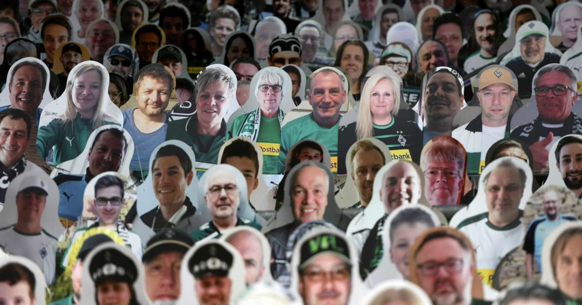Gladbach unveil army of cardboard cutout fans