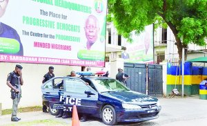 DEVELOPING: Again, Police seals APC National Secretariat