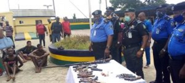 Police apprehend 12 suspected armed robbers, recover firearms in  Bayelsa