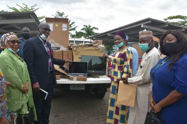 NPA donates computer accessories, office equipment to Abike Dabiri's NIDCOM