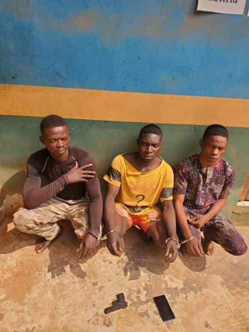 Police arrest three who gang raped s lady in Ogun