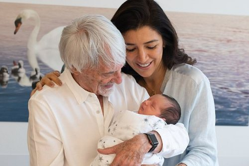 89 years-old Bernie Ecclestone welcomes newborn with wife