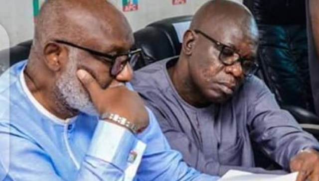 I made wrong choice, Akeredolu opens up defected deputy Ajayi