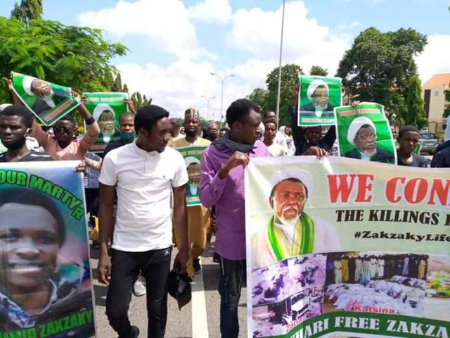 Shi'ites lockdown Abuja over El-Zakzaky's detention, incessant killings