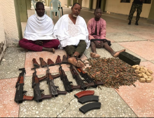 Army arrest 3 Niger Republic Nationals/Arms Suppliers with 6 AK 47 Rifles, Kill 3 Bandits
