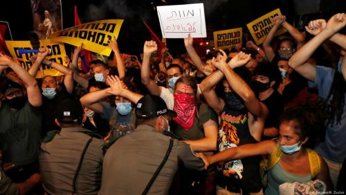 Thousands of Israelis protest Netanyahu and his coronavirus policies
